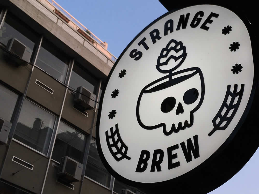A family visit to Strange Brew Taproom for a few Jasmine IPAs ...